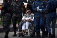 El ex jefe de las FARC Jesús Santrich a su salida de la prisión 'La Picota', en Bogotá.