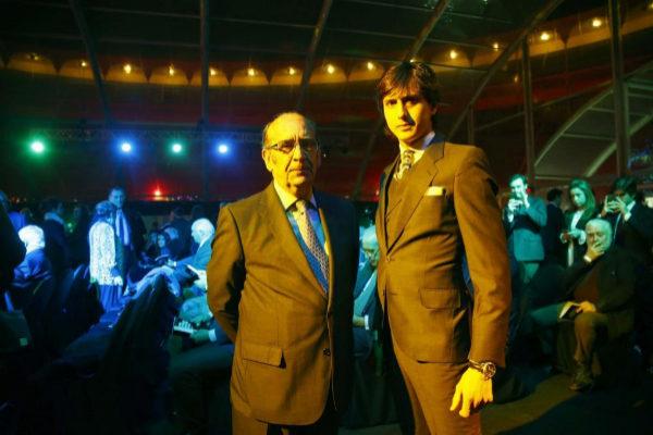 Adolfo Martín y Roca Rey en la entrega del X Premio Paquiro del diario EL MUNDO.
