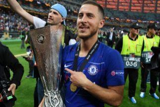 Hazard, con la Europa League conquistada con el Chelsea.