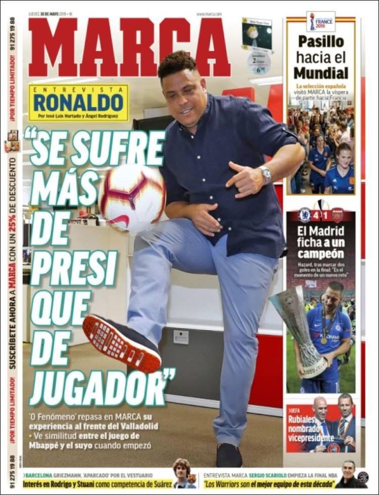 Las portadas de los periódicos deportivos del 30 de mayo