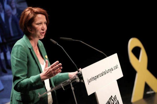 Marta Madrenas, de JuntsxCat que ha revalidado su liderazgo en el Ayuntamiento de Girona.