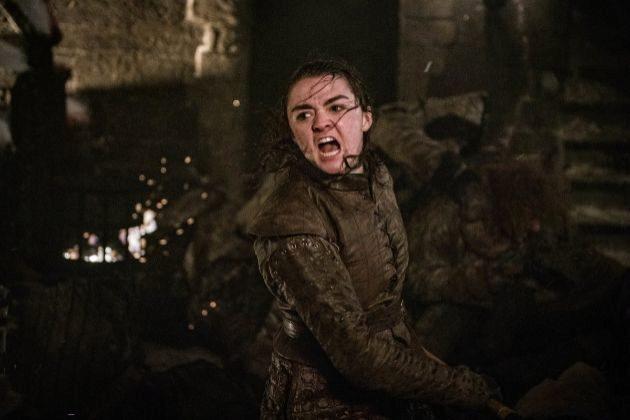 Arya Stark (Maisie Williams) en el tercer episodio de la última...