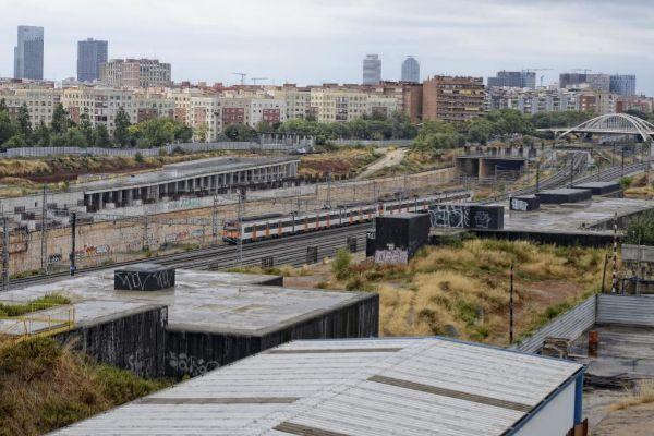 Área de la Sagrera donde se están llevando a cabo las obras para la nueva estación del ferrocarril.