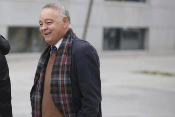 El ex jefe de la Policía Eugenio Pino, a su llegada a la Audiencia Nacional el pasado enero.