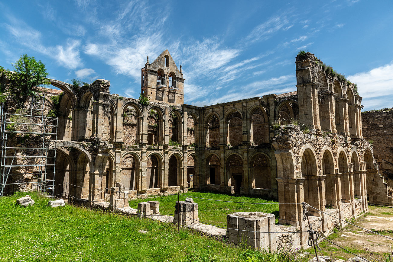 Este conjunto monacal cisterciense ha sido escenario de grabaciones...