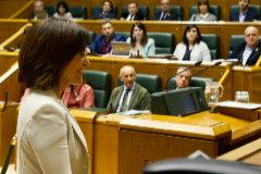 Idurre Bideguren este jueves en el Parlamento Vasco.
