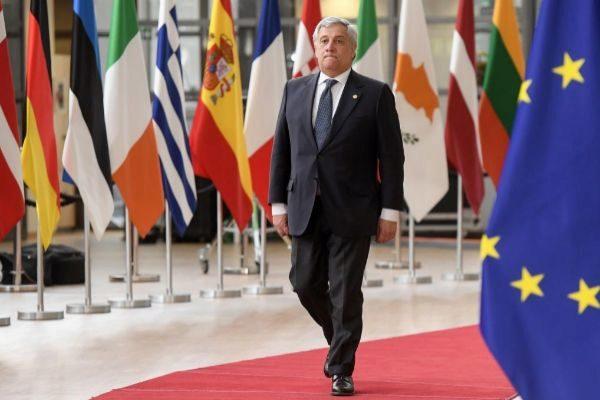 El presidente del Parlamento Europeo, Antonio Tajani, este martes en Bruselas.