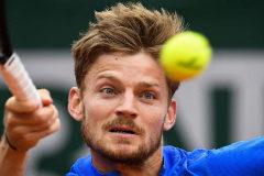 Goffin, en un reciente partido de Roland Garros.