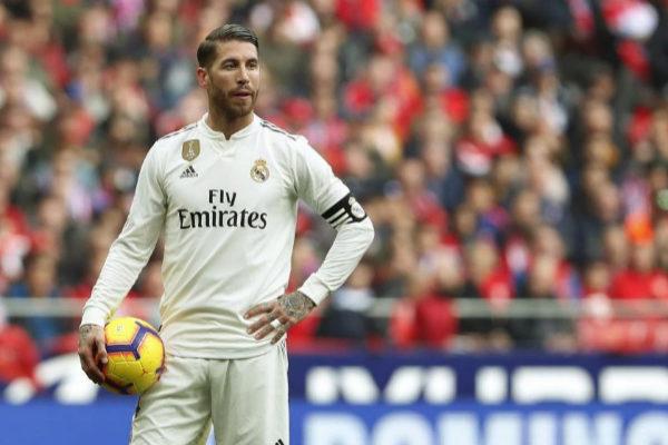 Sergio Ramos, durante un partido esta temporada.