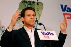 Manuel Valls, ayer, en un acto en Barcelona.