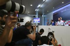 Sergio Ramos, durante su rueda de prensa.