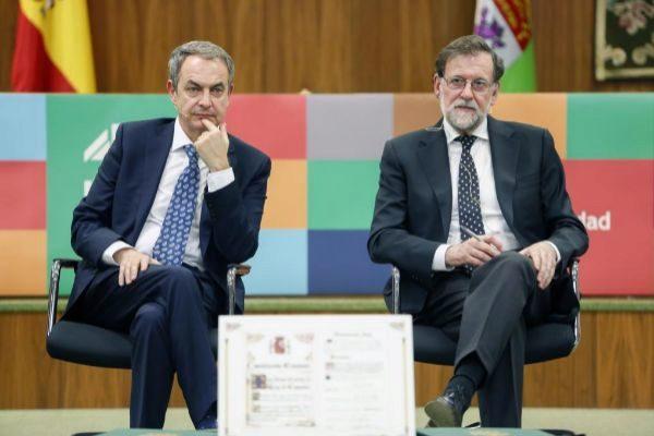 os ex presidentes del Gobierno Mariano Rajoy y José Luis Rodríguez...