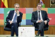 os ex presidentes del Gobierno Mariano Rajoy y José Luis Rodríguez Zapatero.