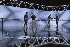 Los principales candidatos a la presidencia en el debate de La Sexta.