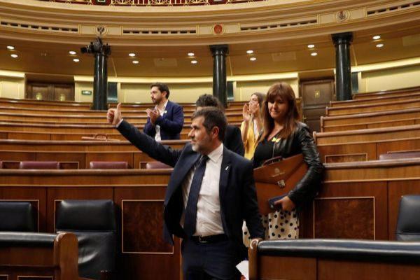 El diputado de JxCat Jordi Sánchez, que se encuentra en prisión...