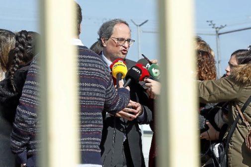 El presidente de la Generalitat, Quim Torra, visita a los presos del...