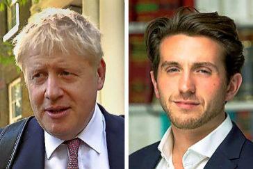 Boris Johnson y Marcus Ball.
