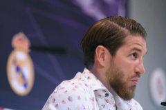 Sergio Ramos, durante su rueda de prensa este jueves.