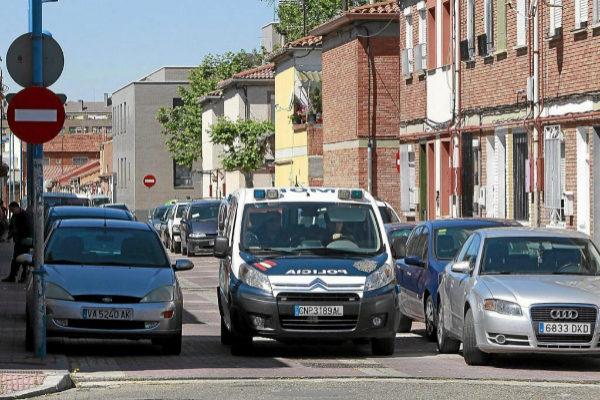 Agentes de la Policía Nacional en Valladolid.