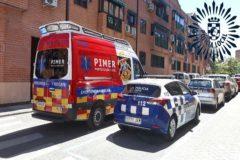 Equipos de Protección Civil y de la Policía Local de Pinto durante una intervención.