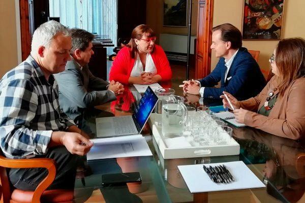 De izq. a dcha., Jaume Alzamora, Antoni Sansó, Bel Busquets, Hans Müller y María José Aguiló.