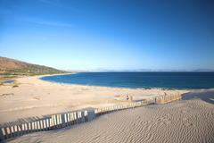 Panorámica de la playa de Valdevaqueros en Tarifa.