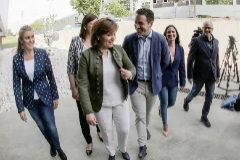 El secretario general del PP, Teodoro García Egea junto a Isabel Bonig.