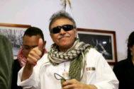 El ex guerrillero Jesus Santrich, en una rueda de prensa ayer en Bogotá.
