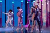 BTS durante su actuación viral en Britain's Got Talent con Boy With...