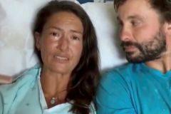 Amanda Eller en el hospital Maui Memorial en Hawaii