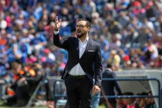 GRAF3344. GETAFE (MADRID).- El entrenador del Getafe José <HIT>Bordalás</HIT> durante el partido contra el Villarreal, correspondiente a la trigésima octava jornada de LaLiga que se disputa esta tarde en el Coliseo Alfonso Pérez, en Getafe.