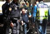 -FOTODELDIA- GRAF9606 HUESCA (Aragón) 28/5/2019.-El presidente del Huesca, Agustín <HIT>Lasaosa</HIT>,c., tras ser detenido por la Policía Nacional en una operación contra el presunto amaño de partidos de fútbol en Primera y Segunda División .