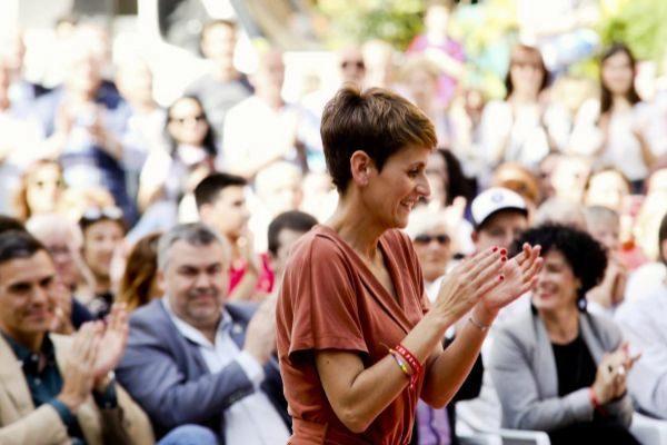María Chivite, secretaria general del PSOE en Navarra.