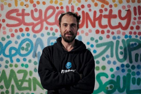 El artista urbano Xupet Negre.