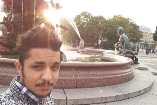Pujan, de 22 años, en una fotografía en Barcelona.