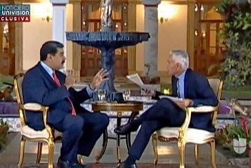 Fotograma de la entrevista entre Maduro y el periodista Jorge Ramos.