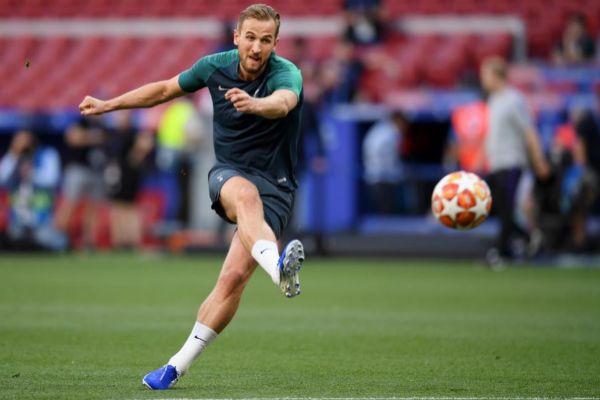 Kane, durante el entrenamiento del Tottenham en Madrid.
