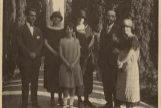 Lorca (primero por la izqda.) y Juan Ramón Jiménez (segundo por la dcha.), en 1924, en Granada.