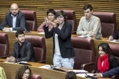 Algunos diputados de Unides Podem en las Cortes en la sesión constitutiva.