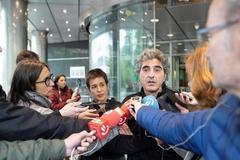 Marta Macho tras Patxi Nicolau, el día de la declaración ante el juzgado