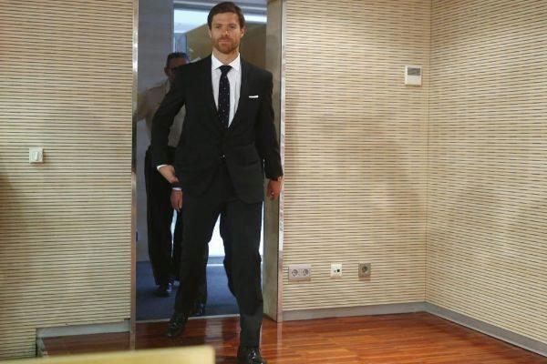 Alonso, el día de su despedida del Madrid, en agosto de 2014.