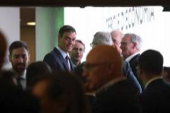 Pedro Sánchez con los empresarios catalanes esta mañana, en Sitges.