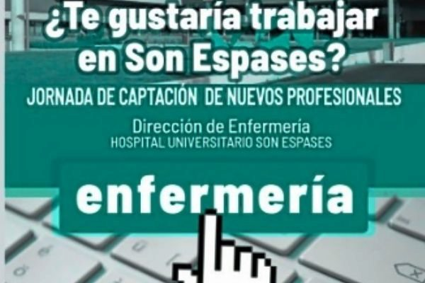 Oferta de trabajo difundida a través de las redes sociales por el hospital Son Espases.