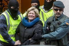 La abogada Arantza Zulueta en el momento de su detención en 2014.