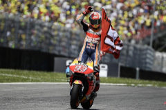 Márquez celebra su segundo puesto en Mugello.