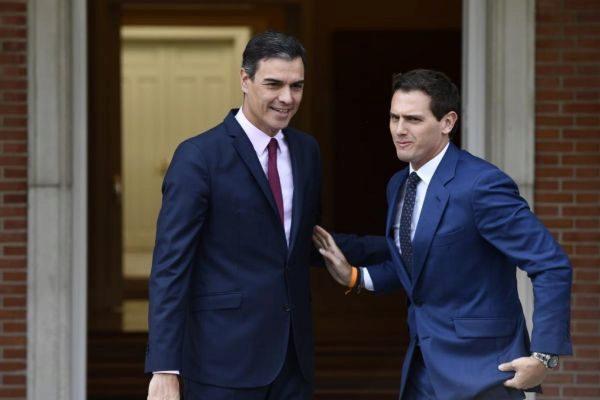 Pedro Sánchez y Albert Rivera, en La Moncloa.