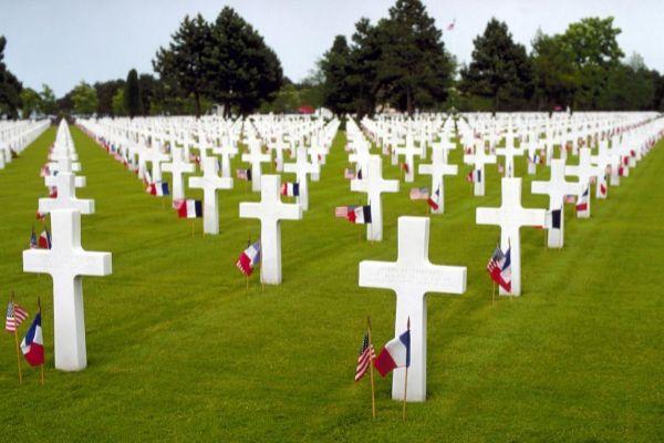 Imagen del Cementerio Americano de Normandía.