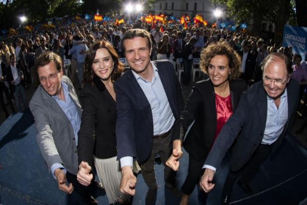 Almeida, Ayuso, Casado, Montserrat y García-Escudero.