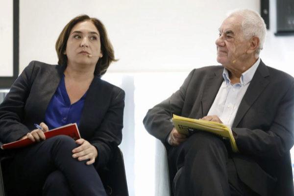Ada Colau y Ernest Maragall, durante un debate electoral.