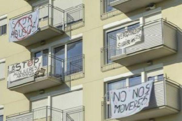 Protesta vecinal por los precios del alquiler